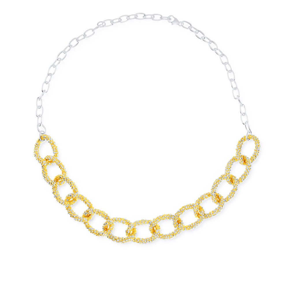 24k Gold Plated Mixed Chain Necklace